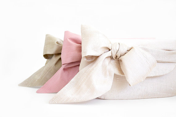 Wedding - Nude and blush pink wedding clutches, Silk wedding clutches, Personalized bridesmaids gifts, Wedding gift, Silk purse, Bridesmaid clutches