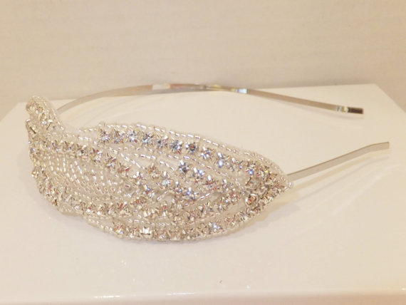 Mariage - Wedding Headpiece, REBECCA, Bridal Headband, Bridal Headpiece, Rhinestone Headpiece