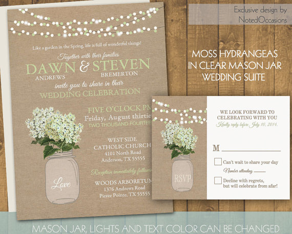 mason jar wedding invitation  rustic mason jar country wedding, Wedding invitations