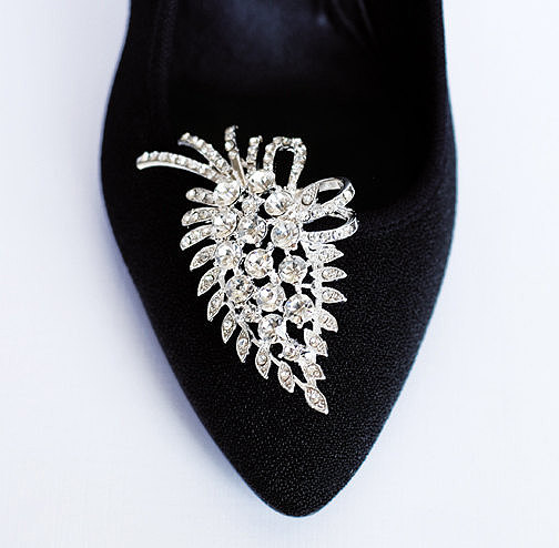 Mariage - Bridal Shoe Clips Crystal Rhinestone Shoe Clips Wedding Party (Set of 2) SC014LX