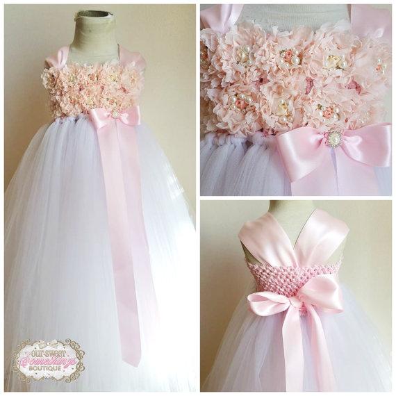 Mariage - Flower Girl Dress Vintage