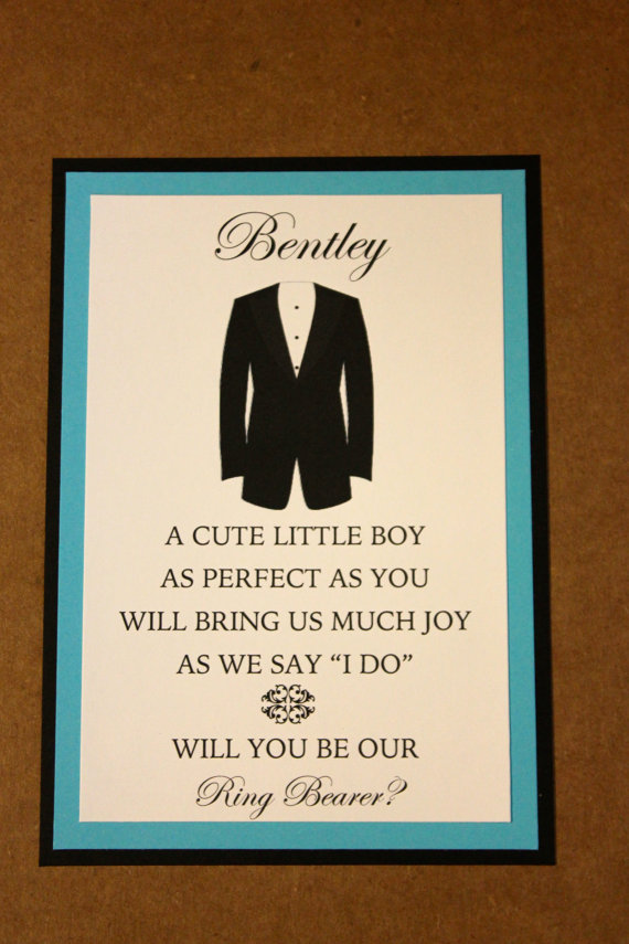 Mariage - Will You Be Our Ring Bearer Card with Envelope