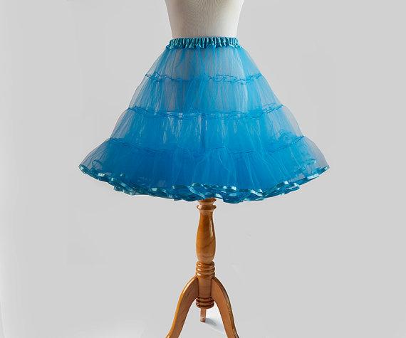 Mariage - Classic 50s 4-Tier Tulle Crinoline, Wedding Petticoat - 22 inches