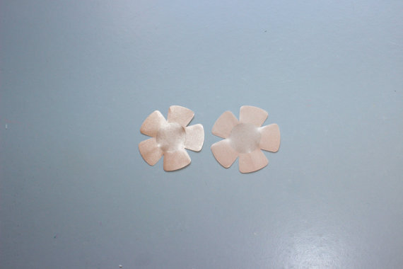 Свадьба - Nude Flower Sticker Pasties- Nipple Covers, for any Size- Package of 6