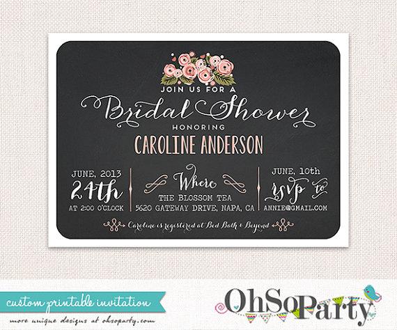 Wedding - FLORAL AFFAIR Custom Bridal Shower Invitation Card