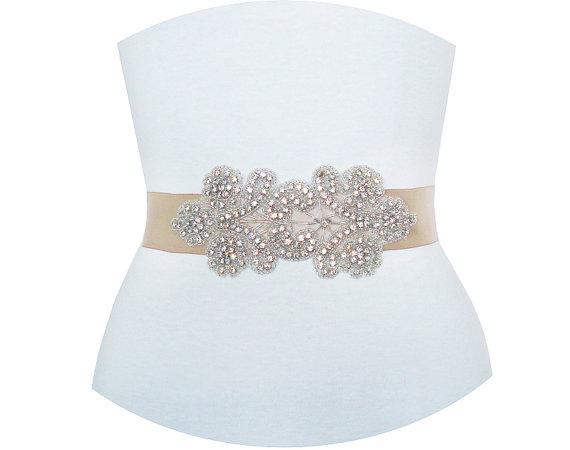 Свадьба - SALE 30% OFF - Best Seller - MIRANDA - Floral Crystal Rhinestone Bridal Sash, Beaded Wedding Sash, Rhinestone Bridal Belt