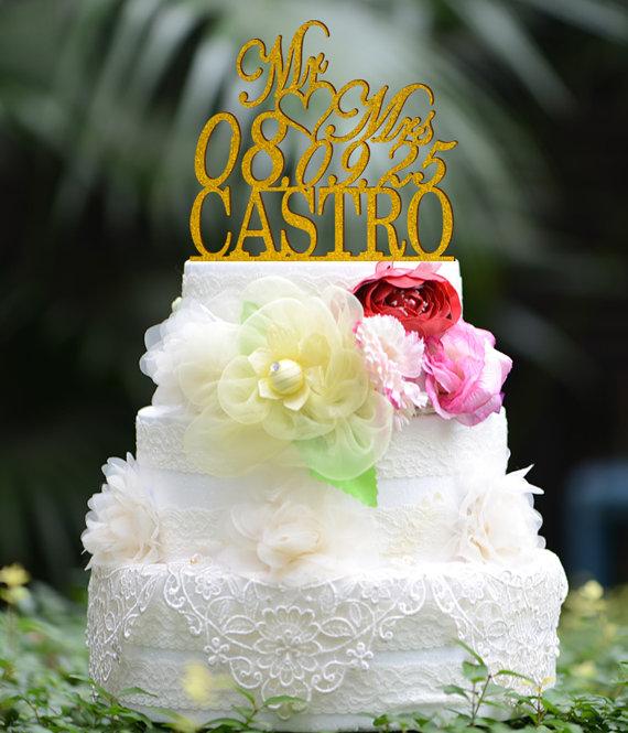 Wedding Cake Topper Monogram Mr And Mrs Cake Topper Design