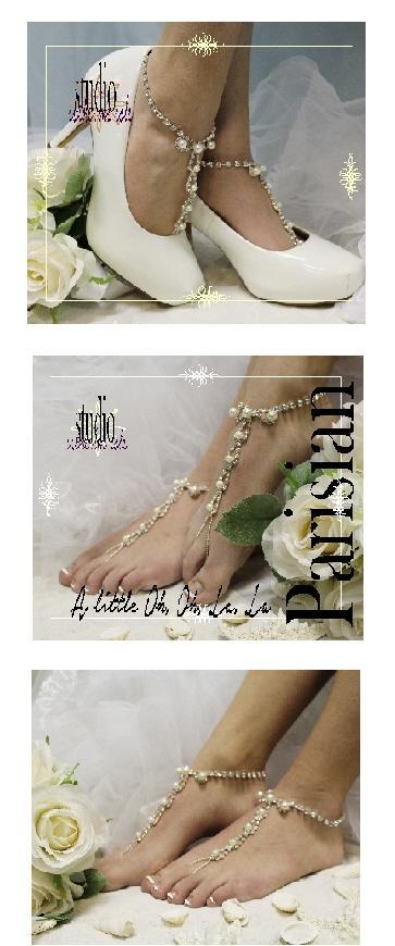 Wedding - Parisian barefoot sandals