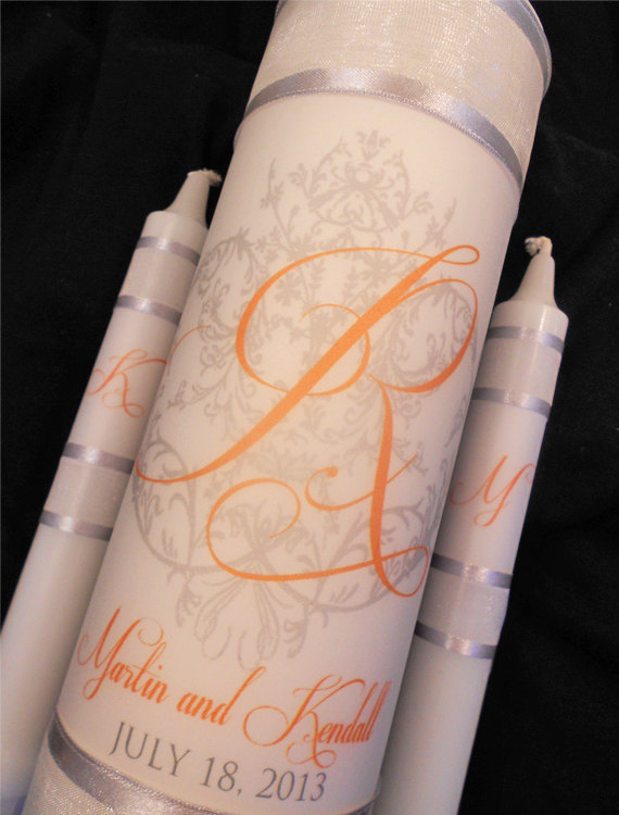 "Wedding - Unity Candle ""Wraps"", Created in Your Wedding Color, Wedding Ceremony Candle ""Wraps"", by No. 9"