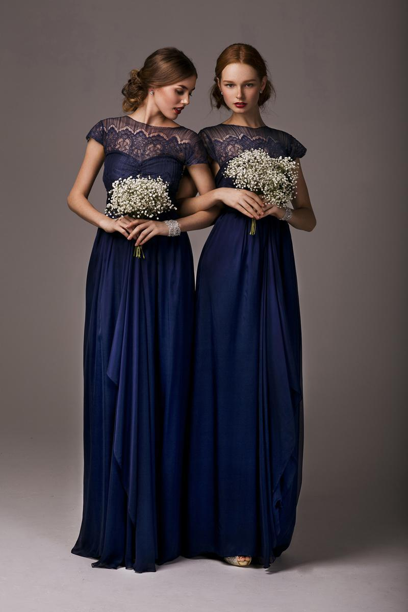 Navy Blue Bridesmaid Dresses  Brides