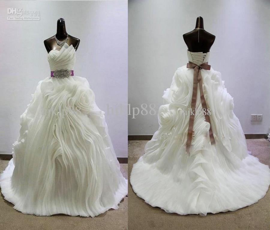Actual Picture Sweetheart Ravishing Luxury Pleated Opal Organza ...