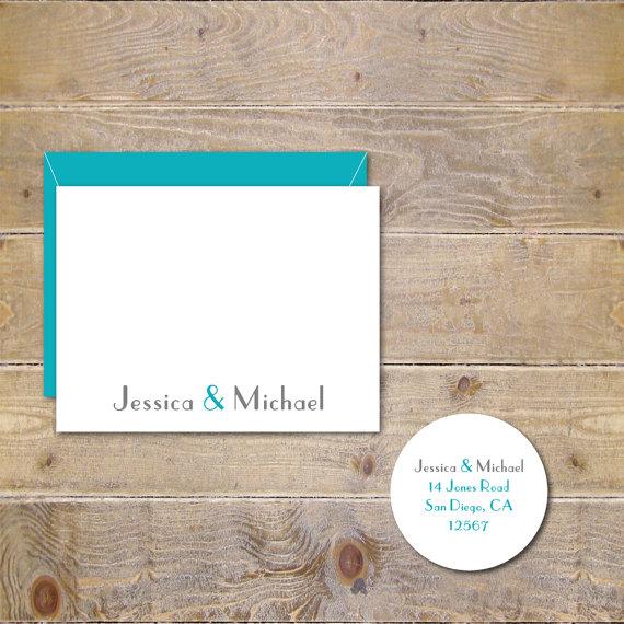 Wedding - Ampersand Wedding Cards, Wedding Thank You Cards, Wedding Ampersand Cards,  Bridal Shower, Ampersand Cards, Ampersand Wedding Cards