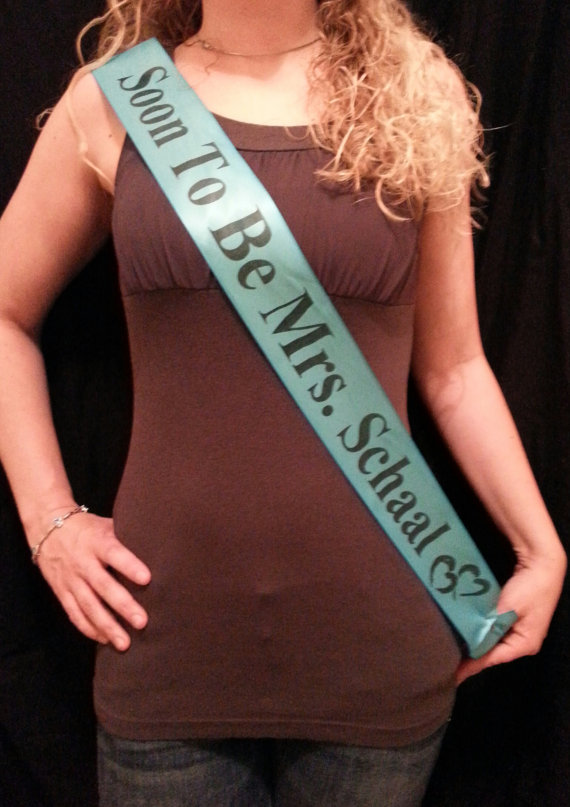 Свадьба - Custom Made Personalized Wrap Sash, Pageant Sash, Wedding Sash