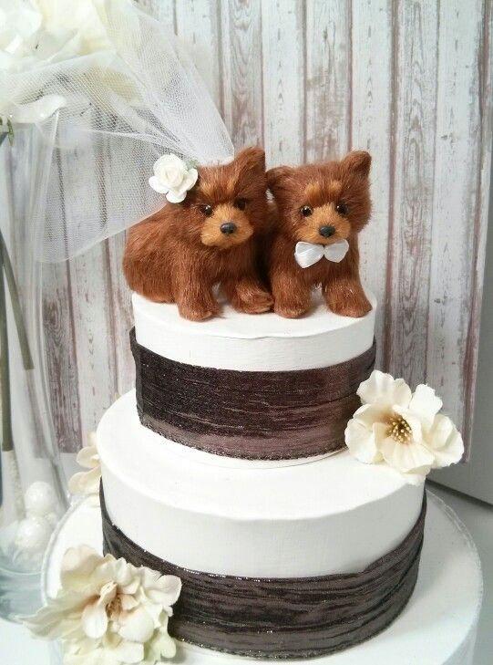Mariage - SALE cutest OOAK brown bear wedding cake topper