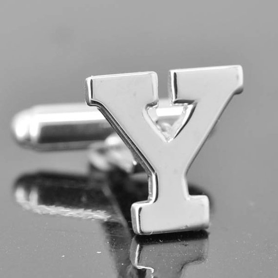 Свадьба - Initial Y, Personalized cufflinks, Initial cufflinks, mens accessories, mens cufflinks, groomsmen gift, Gift for Father, Wedding day gift