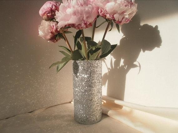Glitter Vase Wedding Bouquet Holder Bridesmaid Bouquet Holder