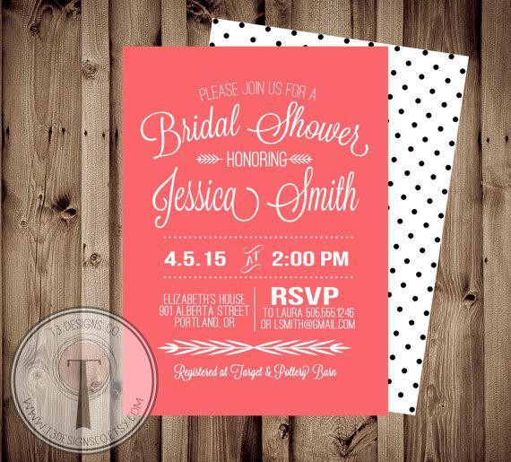 Mariage - Printable Bridal Shower Invite/Bridal Shower INVITATION