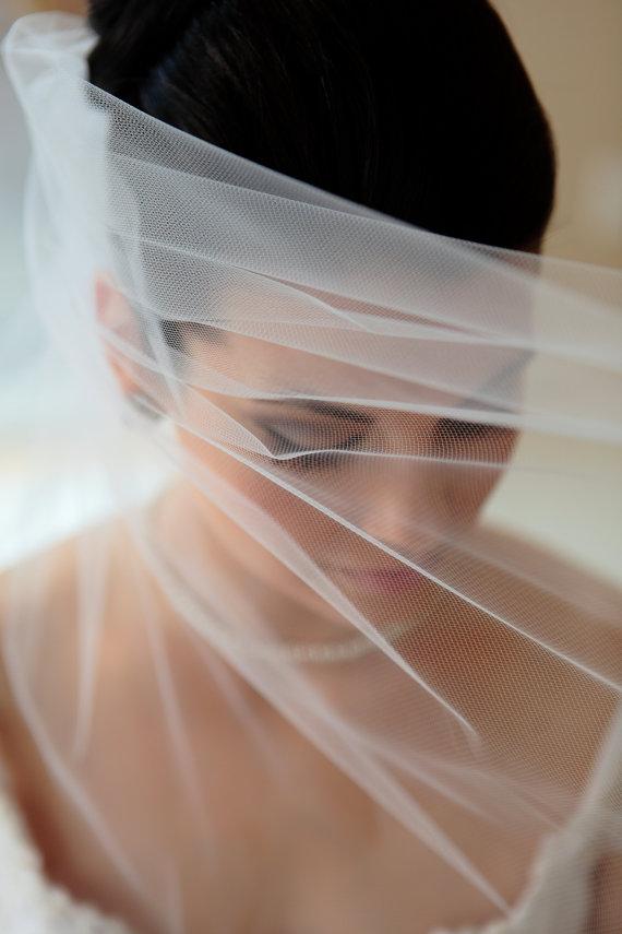 Mariage - Waltz length veil, bridal veil