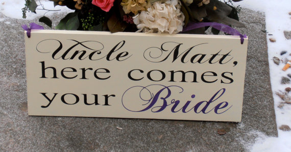 Uncle Here Comes Your Bride Wood Sign Decoration The Ring Bearer Flower