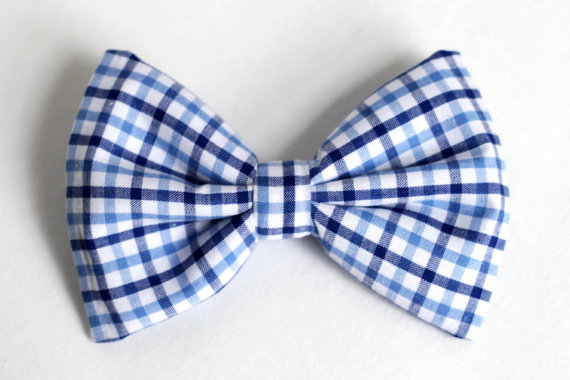 Wedding - Boys Bow Tie Navy and Light Blue Plaid, Newborn, Baby, Child, Little Boy, Great for Special Occasion Wedding or Photo Prop