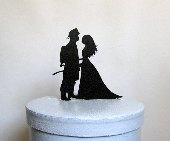 Mariage - Wedding Cake Topper - Fireman and Bride wedding