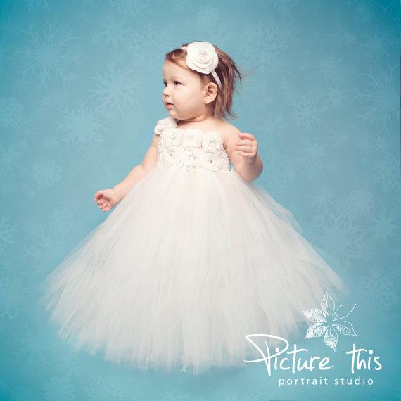Tutu dressrthday tutu dress flower girl dresswhite tutu birthday tutu dress flower girl dresswhite tutuptism tutu dress mightylinksfo