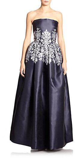 ad0933b6b3 Martin Grant Bustier-Print Strapless Gown  2237256 - Weddbook