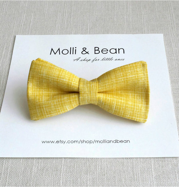Wedding - The Cyrus - Baby, Newborn, Toddler, Kids, Boys bow tie, Ring bearer bow tie, Wedding bow tie, Yellow bowtie, Men's bow tie,  Easter bow tie