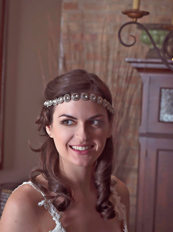 Mariage - Rhinestone Headband,Bridal Headband,Wedding Headband,Bridal Hairband,Wedding Hairband,Downton Abbey Style,Diamante Hairband