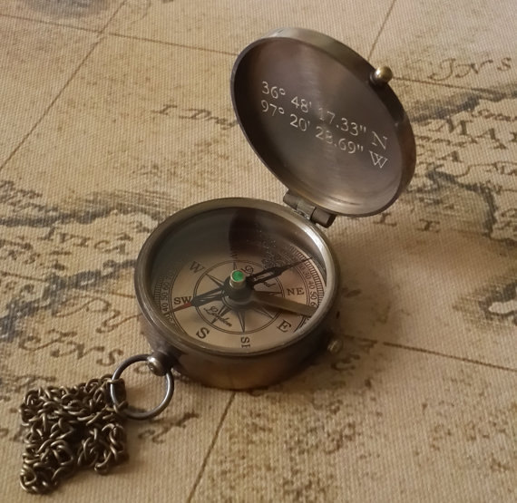 Engraved Compass, Personalized Compass