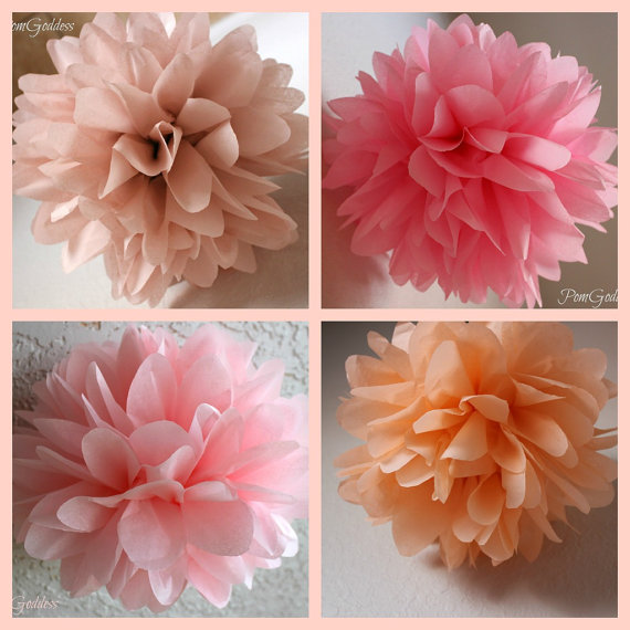 Romantic goddess5 tissue paper pom poms wedding decor flowers romantic goddess5 tissue paper pom poms wedding decor flowers diy 1st girl birthday mightylinksfo
