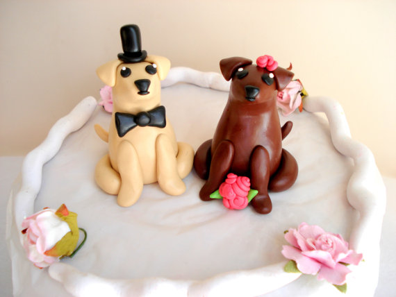 Свадьба - Labrador Wedding Cake Toppers Bride and Groom Cake Toppers Wedding Keepsake Anniversary Cake Topper