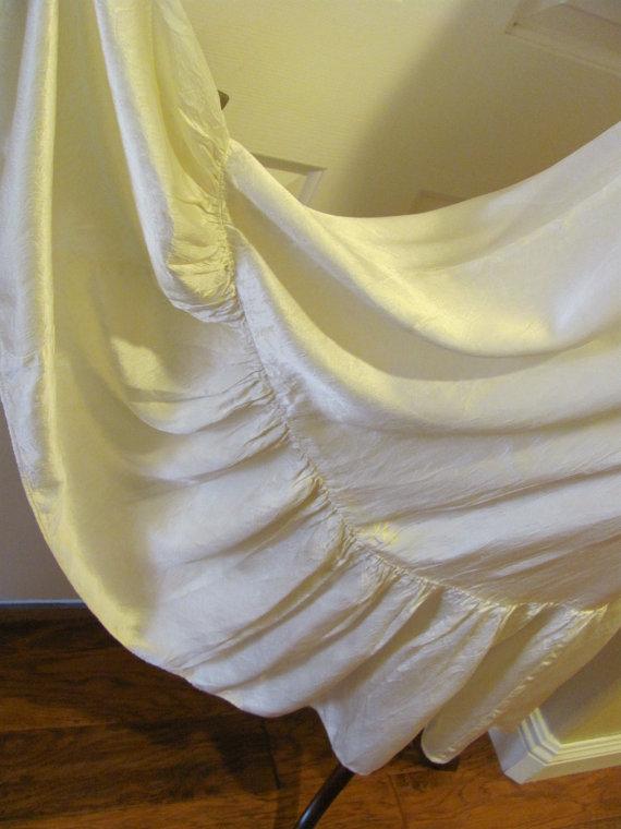 Wedding - Vintage Ivory Ladies Satin Half Slip Petticoat Bridal Under Skirt  - By Hoops My Dear