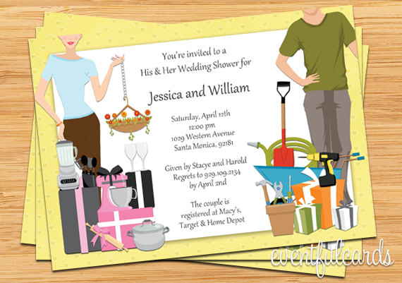 His And Hers Couple Wedding Shower Invitation 2237490 Weddbook – Couples Shower Wedding Invitations