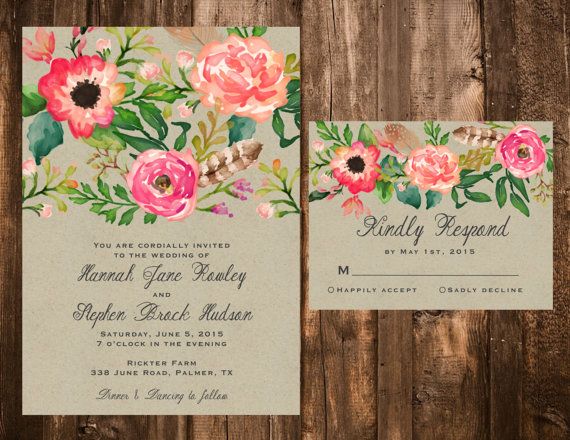 Invitation Watercolor Floral Wedding Invitation Set 2237518 – Floral Wedding Invitations