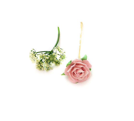 Mariage - Pink Rose Bobby Pins, Floral Hair Accessory, Garden Wedding, Pink Flower Bobby Pin