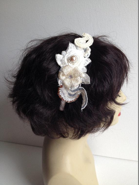 Mariage - Wedding Headpiece, Bridal Headband, Wedding Veils and Headpieces, Bridal Sash