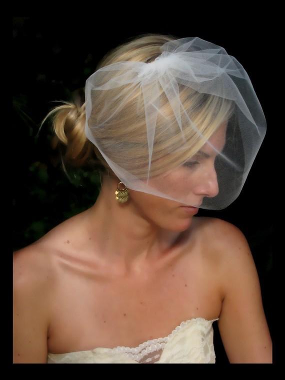 Свадьба - Destiny wedding veil, bridal veill, blusher veil, bridal hair accessories