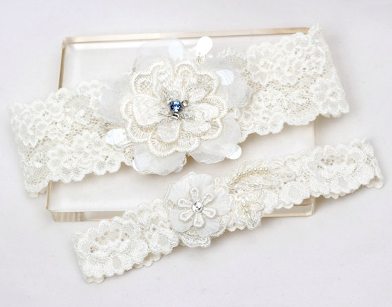 c68e2b33ea8 Wedding Bridal Garter Set - Something Blue Garter Set