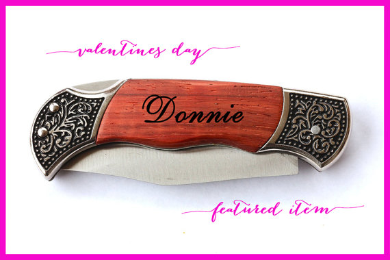 Valentines Day Gifts For Him Personalized Knife For Men Custom