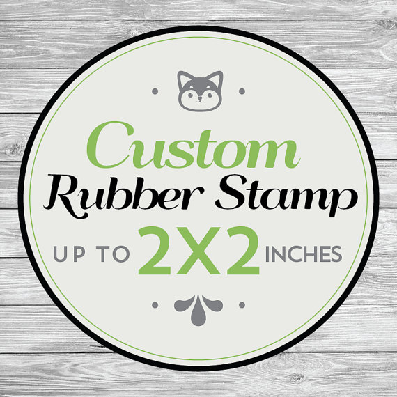Custom Rubber Stamp Wedding Stamps Save The Date Invitation 2x2 Inch