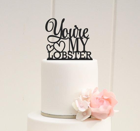 youre my lobster wedding cake topper custom cake topper