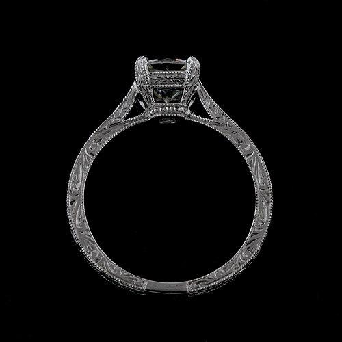 Mariage - Platinum 950 Hand Engraved Vintage Style Engagement Ring Setting