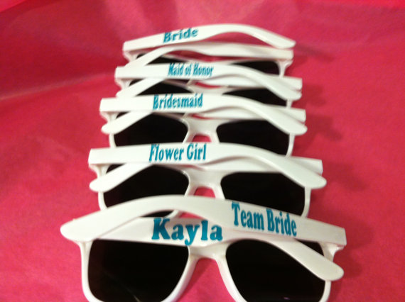 Wedding - Personalized Sunglasses Bachelorette, Bridal Parties, Groomsmen, Graduation, Birthday, Sports Team