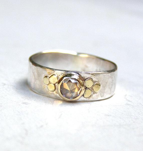 handmade engagement ringtrending ring 14k gold ring