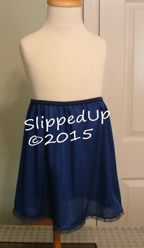 Свадьба - TUTU Slip -  Size 6X NAVY Blue - Tutu Dress Girl Half Slip Little Girls Slip Lingerie