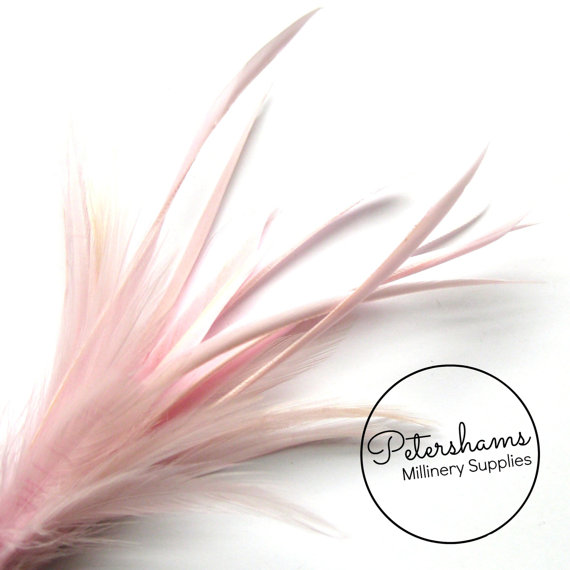 Pink Hackle /& Biot Feather Millinery Mount