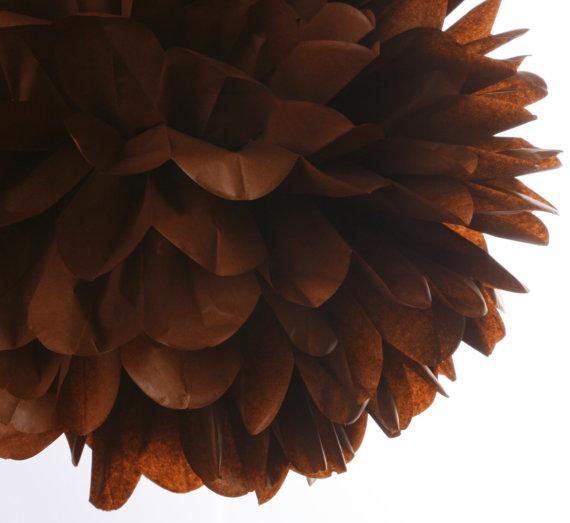 Hochzeit - Brown 1 Large tissue paper pom poms