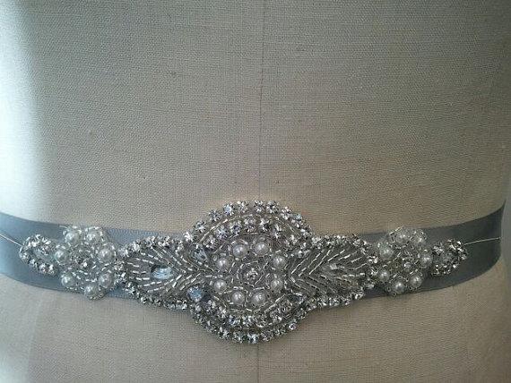 Mariage - SALE - Wedding Belt, Bridal Belt, Bridesmaid Belt, Bridesmaid Belt,, Crystal Rhinestone - Style B158