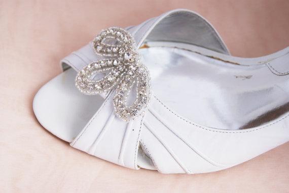 Mariage - rhinestone shoe clips - PAULA